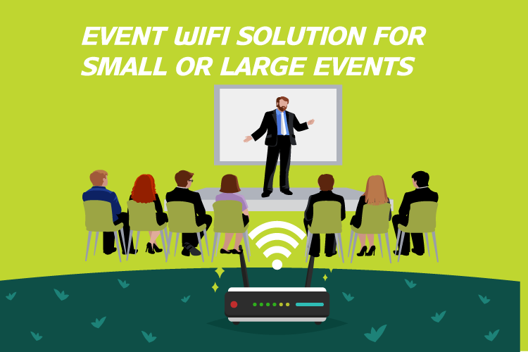Temporary internet and wifi for small or large events